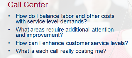 Call center benchmarks